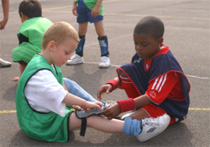 Kids Helping Each Other At School